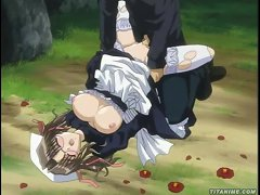 Supercute Anime Maid With Outrageously Huge Tits Begs For Cock