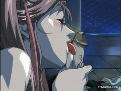 Cute Anime Schoolgirl With Voluptuous Big Tits Sucking Dick