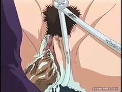 Lovely Young Anime Brunette Cant Scream When She's Tied And Every Hole Is Filled With A Thick Cock