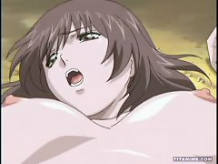 Young Anime Girl With An Incredible Rack Gets Her Tight Cunt Fucked By A Big Dick