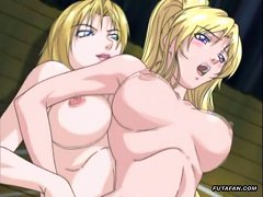 Busty Hentai Woman Grows Out A Cock And Fucks A Girl