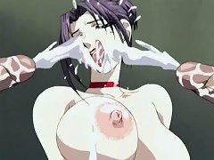 Kinky Hentai Showing Lewd Chick Enjoying Sperm
